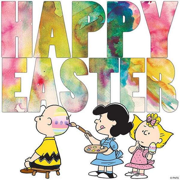 Easter snoopy. April on twitter lucy