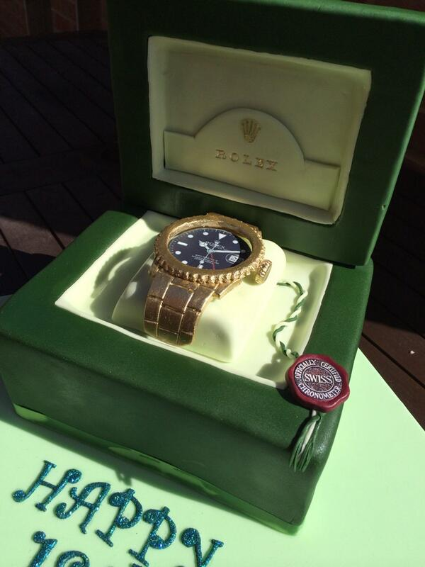 Incredible Caketalk On Twitter Rolex Watch Birthday Cake T Co Personalised Birthday Cards Arneslily Jamesorg