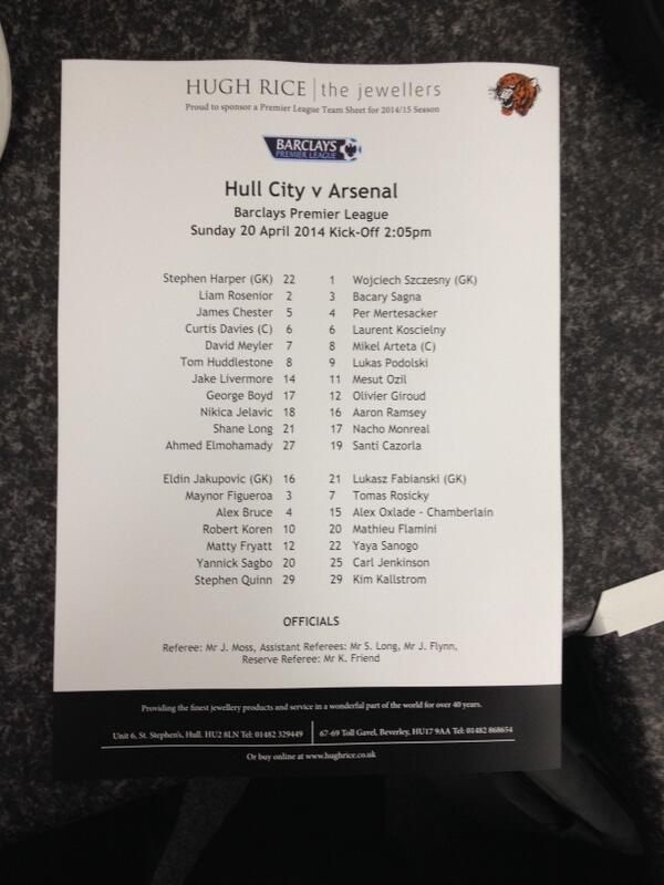 Arsenal Fc On Twitter The Official Teamsheet For Hcfcvafc Http