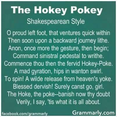 The Hokey-Pokey SHAKESPEAREAN Style...LOL http://t.co/tNk9b91njf