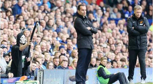 Paddy Power claim they were behind Grim Reaper stunt taunting David Moyes during Everton   Manchester United [Pictures]