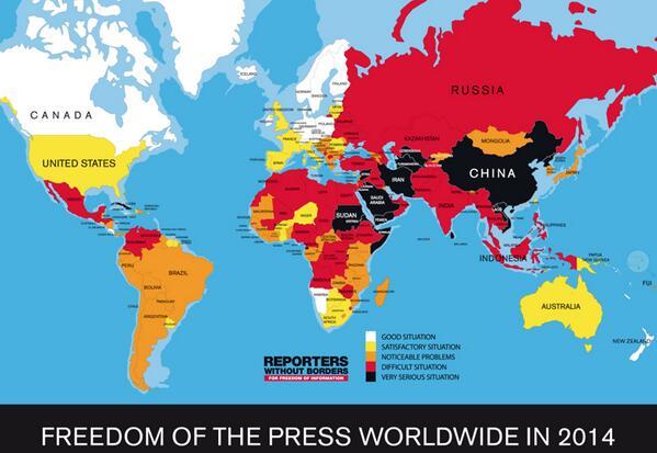 Deprimerende. RT @MannfredNikolai: Map Press freedom Index; http://t.co/OH3eM363MU