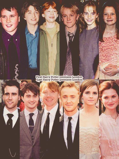 The first and last Harry Potter premieres. Wibble. http://t.co/uFiimUFNBB