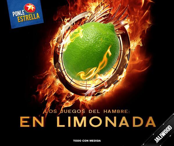 """¡Qué """"En Llamas"""", ni qué nada! Acá los juegos del hambre son """"En Limonada"""" #Jaliwood http://t.co/eUMIT31gNu"""