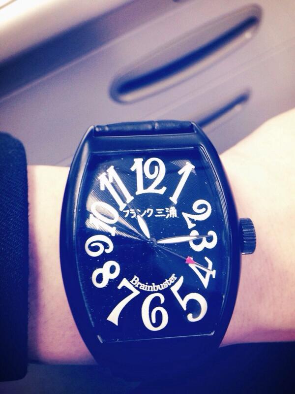 僕の時計が壊れたということで、「フランク三浦」プレゼントして頂きました! http://t.co/yAuGfyNdpe