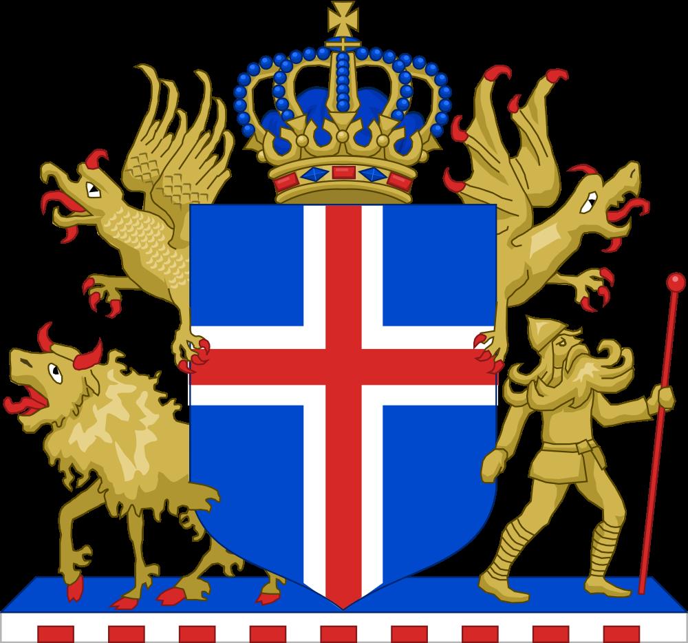 герб исландии фото прямо