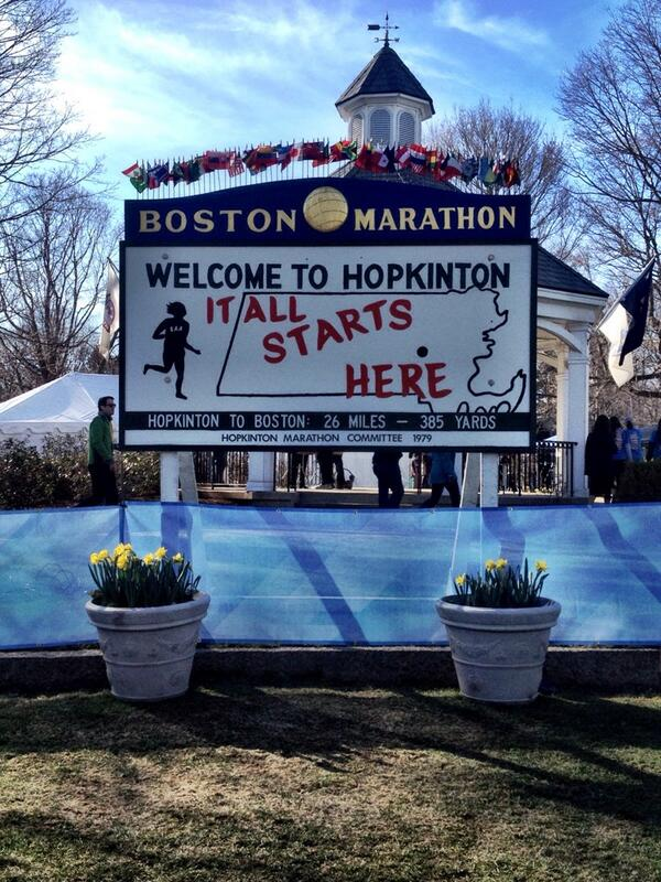 """It all starts here"" -- The starting point of the #BostonMarathon. #Hopkinton #BostonStrong http://t.co/s5suPFkIVM"