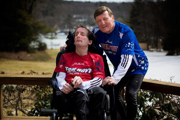 The. Greatest. MT @WBUR: Today is last #BostonMarathon for legendary father-son #Hoyt team: http://t.co/iZ27n06BjT http://t.co/EpLkURABIK