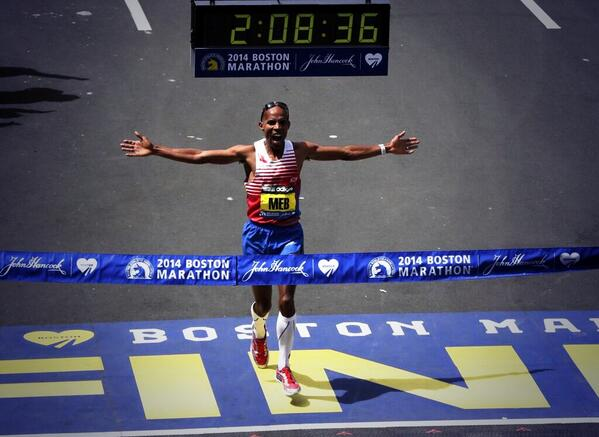 Meb Keflezighi first American to win Boston Marathon since 1983