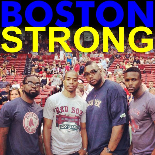 We are #BostonStrong.. God Bless all the runners today at the Boston Marathon! RT http://t.co/5wzmUJv5Tc