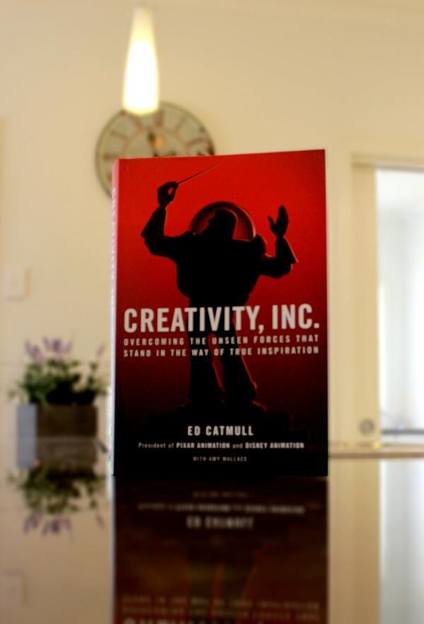 My Easter weekend was spent reading @edcatmull and @msamywallace's Creativity, Inc. I felt it needed a classy photo. http://t.co/MIAC2ibXA7