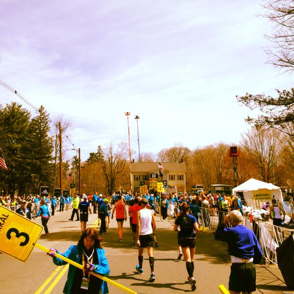 At the starting gate - no turning back now! #BostonMarathon http://t.co/YH9bmb7hxt