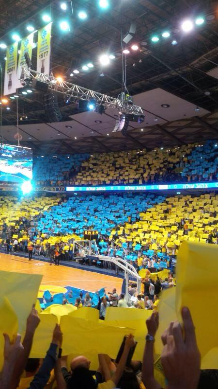Maccabi TA vs Milan, game 3 Nokia Arena. #Euroleague http://t.co/TStze2cyH5