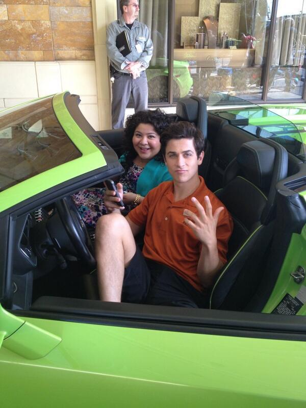 First day of filming #MallCop:Blart2 and having a blast!  @Raini_Rodriguez @DavidHenrie sitting in my car http://t.co/WJuiG9e3K6