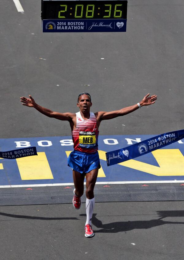 CONGRATS to @runmeb, San Diego High School grad and winner of the @bostonmarathon!! #BostonStrong http://t.co/CJHrOXndfs