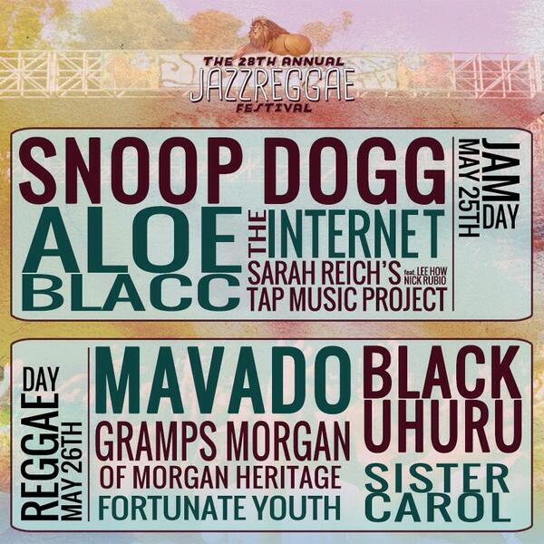 Here it is y'all! Hope to see you at this year's #JazzReggae Festival. Tickets on sale now! http://t.co/VpLk3cMS2d