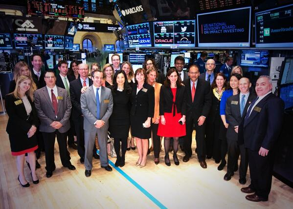 Thank you @ImpactInvestUS for ringing the #NYSEBell in honor of #impactinvesting. http://t.co/9xDHiRqVYw