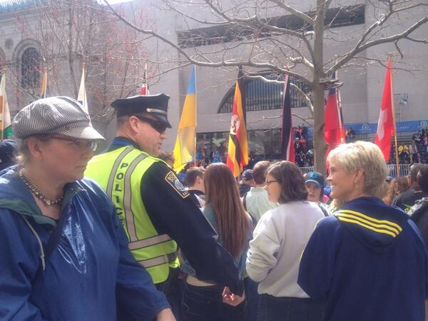 "#Boston Marathon security is tight: some say it's probably ""the safest place in America"" http://t.co/gjvSh8rYli"