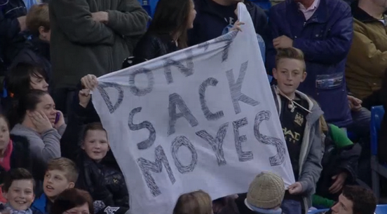 Dont sack Moyes! Man City rub salt in the wounds with banner at West Brom match