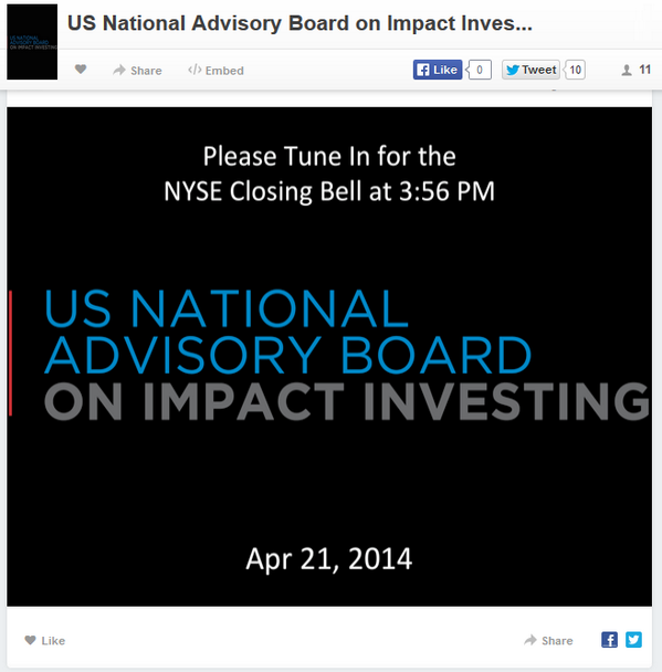 .@NYSEEuronext is ready for the US Natl Advisory Board on #ImpactInvestment! Tune in: http://t.co/9eaJCAFBmc  #impinv http://t.co/T9rBWN6qvS