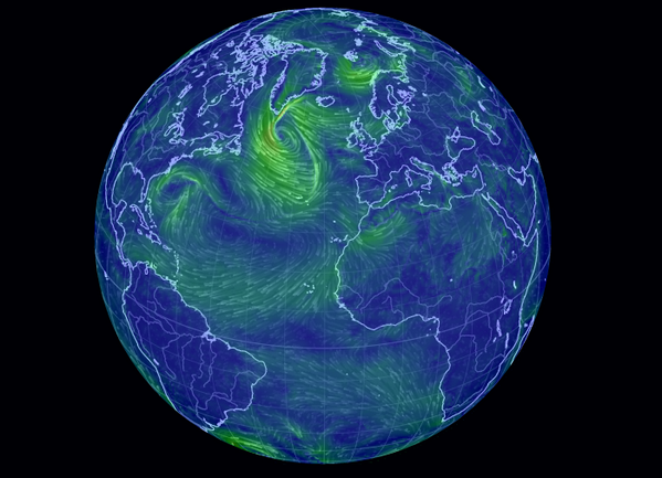 Beautiful Maps On Twitter An Animated Map Of Global Wind And