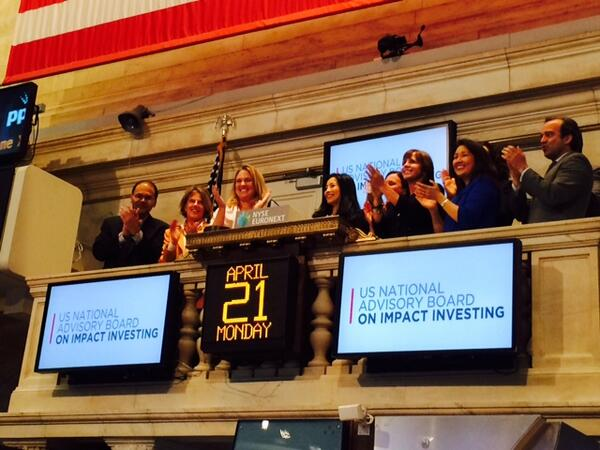 Ringing the #NYSEBell takes a second but promoting #socialgood thru smart investments can outlast a lifetime #impinv http://t.co/ltZhVDTX5V
