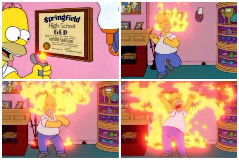 """Simpsons Quotes On Twitter: """"Woo-hoo! I'm A College Man! I"""