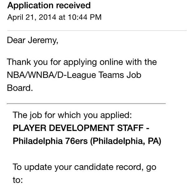 @nba @Sixers praying to the basketball gods for this one! #nbacareers http://t.co/6N6ifTVLVO