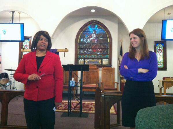 Mayor Sharon Thomas & Montco Planning Commission Jody Holton welcome the crowd to comprehensive plan meeting. http://t.co/LSe850o0Sm