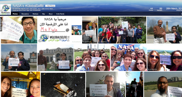 """Share YOUR #GlobalSelfie for #EarthDay: http://t.co/UZLk2rqK4K WHAT's a #GlobalSelfie? More: http://t.co/QSURDbXRds http://t.co/1uCZu2X3io"""""""