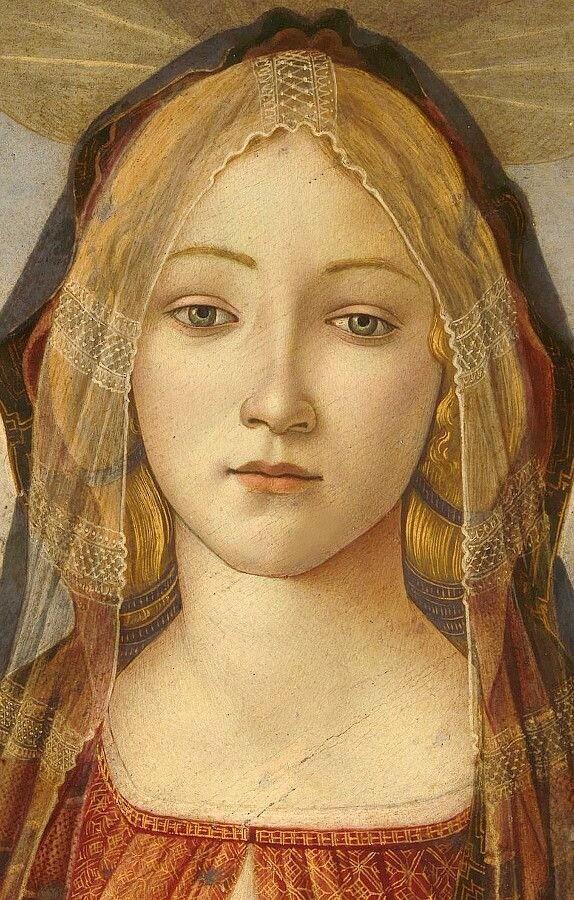 """Federica Andrea on Twitter: """"Part Della Vergine con il ... Botticelli Paintings"""