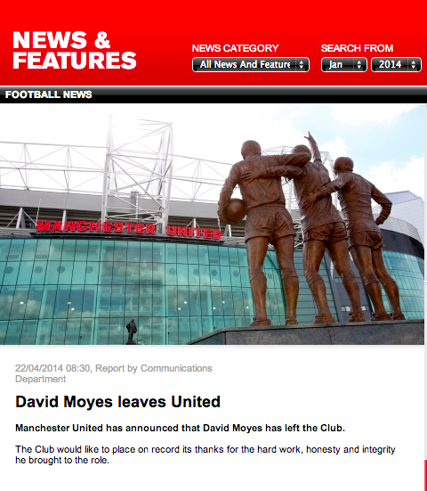The best tweets after Manchester United officially announce the sacking of David Moyes