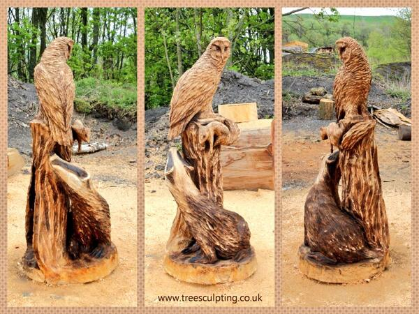Wooden sculptures chainsaw carvings maytree wood carving