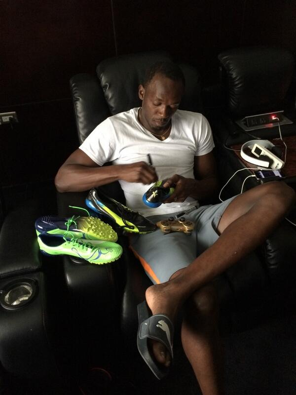 Usain Bolt Sends His Running Spikes To London After Signed Pair Worth  £20 a1e23c9da