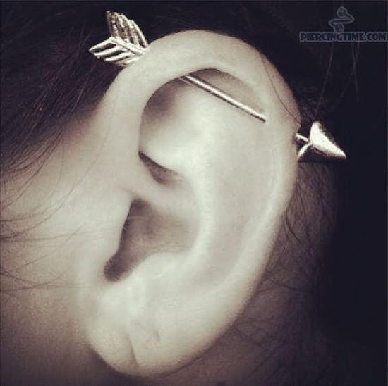 Ear Pircings 101 On Twitter Cute Industrial Piercing Cute