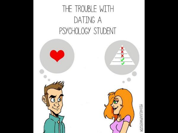 trouble with dating a psychology student Student guide to surviving stress and  sexual problems: the student health center can provide physical checkups and std/sti screenings, as well as counseling for issues sexually active.