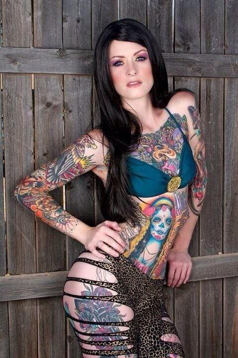 Hot Girl With Tatoo