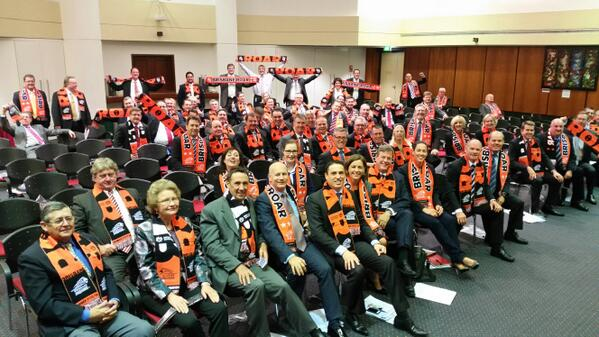 Love seeing pollies getting behind #roar RT @RobCavMP: LNP party room meeting supporting champions @brisbaneroar http://t.co/CFbE5cAL6f
