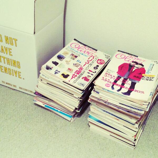 雑誌オリーブは欠かせないですネ。GW中は90年代分を読み返してます。カフェGPにプチプラ…バイブル!  次号GINZA【ファッション雑誌特集】にも 『オリーブが教えてくれたこと』ページが。乞うご期待!  #私たちの90sカルチャー http://t.co/xFHHS2sbQP