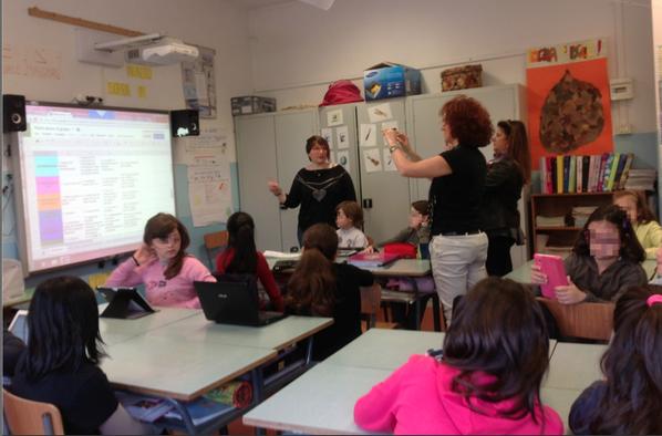 """Ospiti di #formazioneautentica """"prendono appunti"""" su rubric elaborata per """"valutazione autentica"""" @EnzoZecchi"""