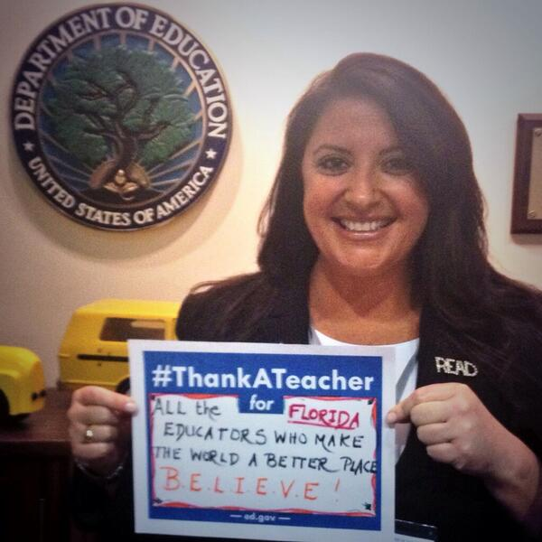 #ThankATeacher #TeacherHeroes #TeacherAppreciationWeek #Florida  #Teachers http://t.co/yly6RTgu4o