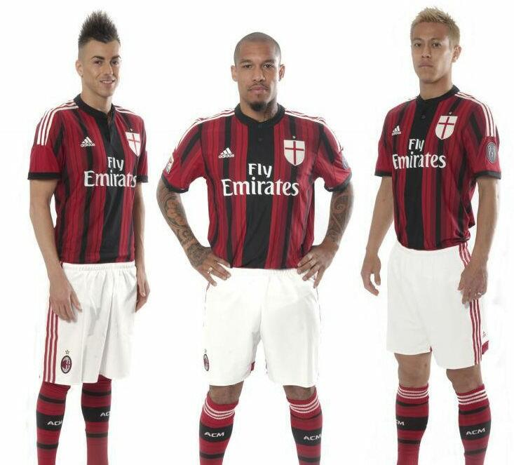 AC Milans new home kit & third kit for next season; Modelled by Kaka, Honda & more [Pictures]