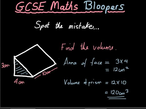GCSE Maths Blooper