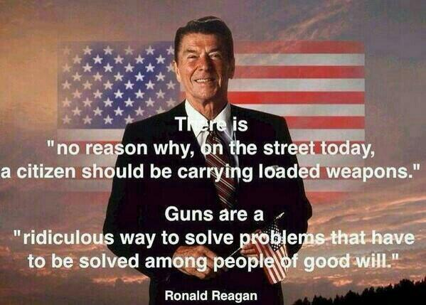 Reagan, on gun control