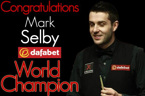 Mark Selby clears to win the Dafabet World Snooker Championship 18-14! http://t.co/9UKYrH8xEG