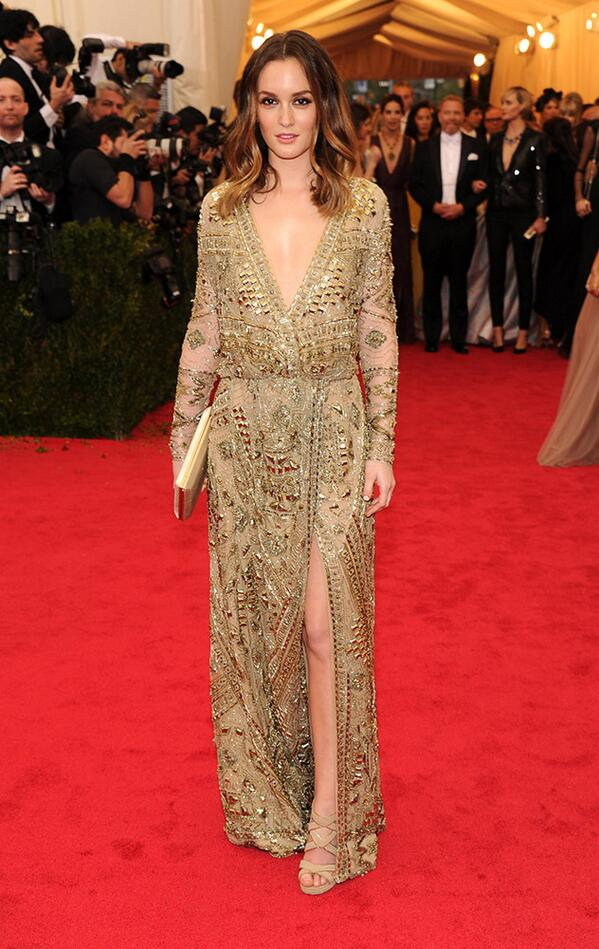 Leighton Meester is beyond gorgeous in Emilio Pucci at the #Metball2014! http://t.co/Qcbx5igtTk #MetGala2014 http://t.co/QTINkIG4jn