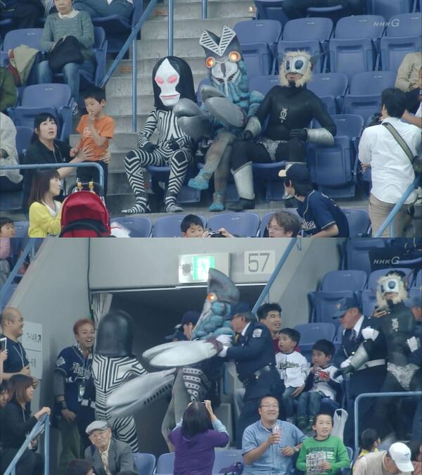 NHK野球中継で面白いプレー来た。 http://t.co/kOcS8BoZU3