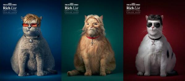 Another year, another wonderful campaign for The Sunday Times Rich List by @GreyLondon http://t.co/7S4PjrSizT