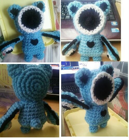 オトベア編みぐるみ出来たー!丸い体格頑張りましたかかってこいやオラ!