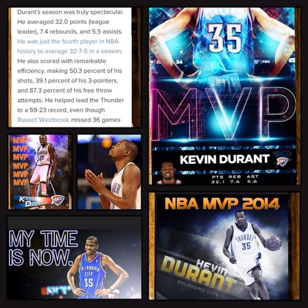 Hoop There it is! @NBA #MVP2014 @KDTrey5 @okcthunder A True Example of never giving up on your dreams! #JustDoIt #Okc http://t.co/bz2NdO0cGz